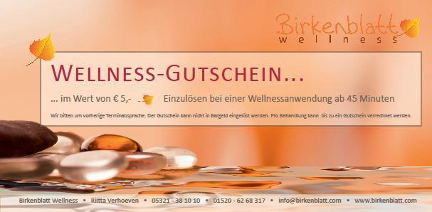 ... Momente, verschenken Sie einen Wellness-Gutschein von Birkenblatt
